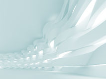 Futuristic Interior. 3d Illustration of Blue Futuristic Interior Background Stock Photo