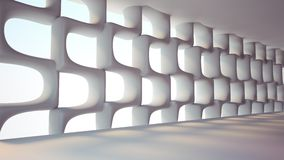 Futuristic interior. Space abstract background Royalty Free Stock Photo