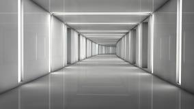 Futuristic interior Stock Photography