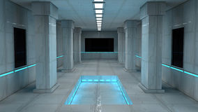 Futuristic interior Stock Photography