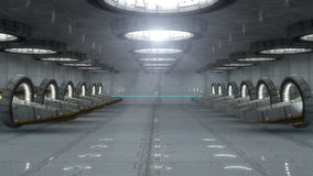 Futuristic Interior Royalty Free Stock Photos