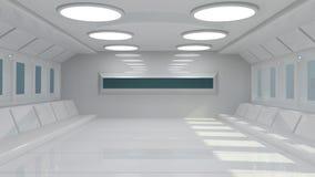 futuristic interior Arkivfoton