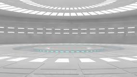 futuristic interior Arkivbild