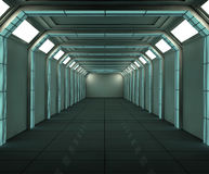 futuristic interior Arkivfoto