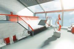 futuristic interior Royaltyfri Fotografi