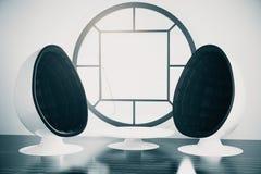 futuristic interior Arkivbilder