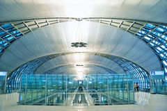 Futuristic interior of airport Royalty Free Stock Images