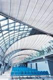 Futuristic interior of airport Royalty Free Stock Image