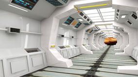 Futuristic interior architecture Royalty Free Stock Photo