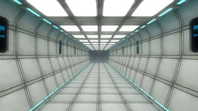 Futuristic interior architecture Royalty Free Stock Photos