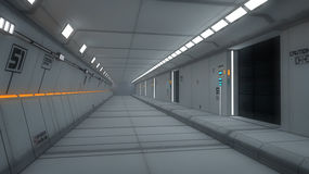 Futuristic interior architecture Stock Image