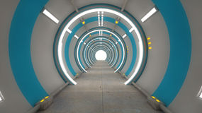 Futuristic interior architecture Stock Photography