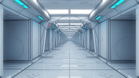 Futuristic interior architecture Royalty Free Stock Image