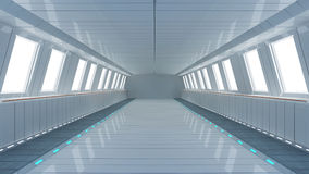 Futuristic interior architecture Royalty Free Stock Photography