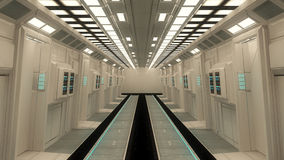 Futuristic interior architecture Royalty Free Stock Photos