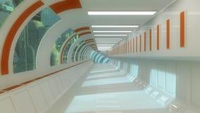 Futuristic interior architecture Royalty Free Stock Photo