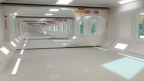 Futuristic interior architecture Royalty Free Stock Image