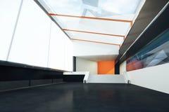 Futuristic interior black floor Royalty Free Stock Photos