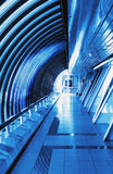 Futuristic interior bridge Stock Images