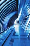 Futuristic interior bridge Stock Images