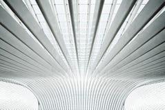 Futuristic interior with concrete arches in perspe Stock Photo