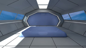 Futuristic interior Stock Photo