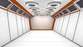 Futuristic interior. 3d design of a futuristic interior Royalty Free Stock Image