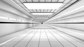 Futuristic interior. 3d design of a futuristic interior Stock Photography