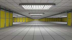 Futuristic interior. 3d design of a futuristic interior Royalty Free Stock Photography