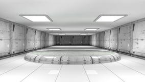 Futuristic interior. 3d design of a futuristic interior Stock Images