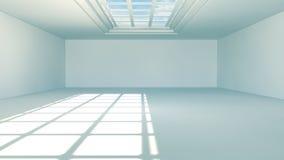 Futuristic interior. 3D Design. Futuristic and modern architecture and corridor Stock Image