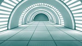 Futuristic interior royalty free illustration