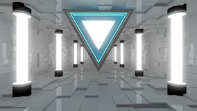 Futuristic interior Stock Image