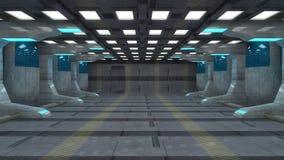 Futuristic interior Royalty Free Stock Image