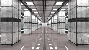 Futuristic interior and data center Stock Photos