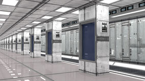 Futuristic interior and data center Royalty Free Stock Photos