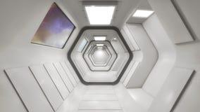 Futuristic Interior Design Background Royalty Free Stock Photography