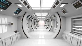 futuristic interior för arkitektur Arkivbild