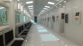 futuristic interior för arkitektur Arkivfoton