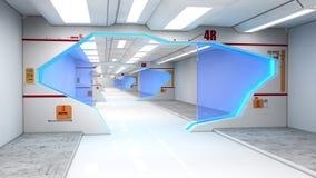 futuristic interior för arkitektur Arkivbilder