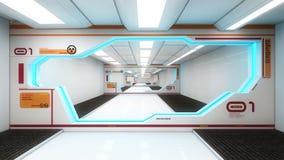 futuristic interior för arkitektur Royaltyfri Bild
