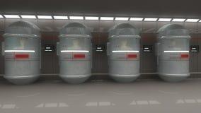 futuristic interior för arkitektur Arkivfoto