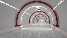 futuristic interior för arkitektur Royaltyfria Bilder