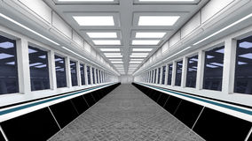 FUTURISTIC INTERIOR Stock Images