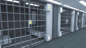 Futuristic interior jail Stock Photo