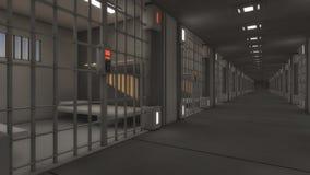 Futuristic interior jail Royalty Free Stock Photos