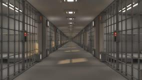 Futuristic interior jail Royalty Free Stock Photography