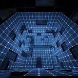 Futuristic interior Stock Photo