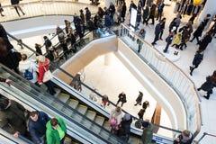 Futuristic interior renovated shopping center Royalty Free Stock Photos
