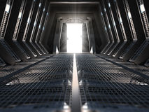 Futuristic interior. Of a space station Royalty Free Stock Photos